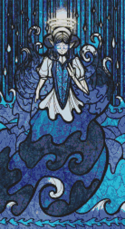 "sages of hyrule - Malkorbagia -  9.86"" x 18.07"" - Cross Stitch Pattern Pdf E1629"