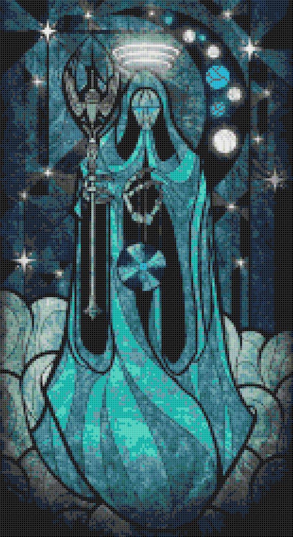 "sages of hyrule - Demoko -  9.86"" x 18.07"" - Cross Stitch Pattern Pdf E1631"