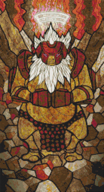 "sages of hyrule - Darunia -  9.86"" x 18.07"" - Cross Stitch Pattern Pdf E1634"