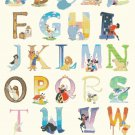 "Alphabet Disney characters - 23.64"" x 32.86"" - Cross Stitch Pattern Pdf E1647"