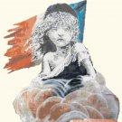 "French girl by banksy Cross Stitch Pattern street art - 18.07"" x 19.14"" - E1652"