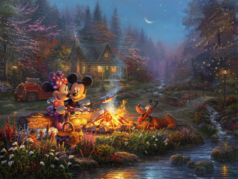 """mickey minnie sweetheart cross stitch pattern Kinkade Cross Stitch - 35.43"""" x 26.57"""" - E1692"""