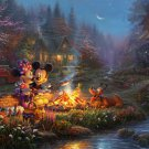 "mickey minnie sweetheart cross stitch pattern Kinkade Cross Stitch - 35.43"" x 26.57"" - E1692"