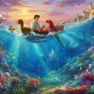 "little mermaid cross stitch inspirated to Kinkade Counted Cross Stitch - 35.43"" x 25.36"" - C1691"