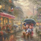 "Counted Cross Stitch Mickey Minnie Paris pattern Kinkade 35.43"" x 26.57"" - C1774"