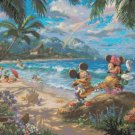 "Counted Cross Stitch - mickey winnie awaii - Kinkade - 28.57"" x 28.57"" - E1853"