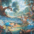 "counted Cross Stitch alice in wonderland Kinkade - 35.43"" x 27.93"" - E1924"