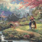 "Counted Cross Stitch disney princess mulan Kinkade - 35.43"" x 23.50"" - E1928"