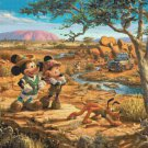 "Counted Cross Stitch minnie mickey Outback Kinkade - 35.43"" x 26.57"" - E1929"