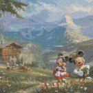 "Counted Cross Stitch minnie mickey in the alps Kinkade - 35.43"" x 26.93"" - E1910"