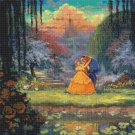 "beauty beast cross stitch pattern kinkade Cross Stitch 23.64"" x 23.64"" E1922"