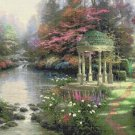 "Counted Cross Stitch garden of prayer - inspirated to Kinkade - 35.43"" x 26.57"" - E1984"