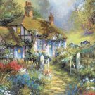 "cottage Counted Cross Stitch pattern Kinkade - 35.43"" x 28.36"" - E2006"