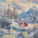 "beauty beast cross stitch pattern kinkade Cross Stitch 35.43"" x 24.79"" E2015"