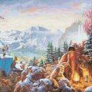 ice age disney Counted Cross Stitch pattern Kinkade 496 * 329 stitches E2019