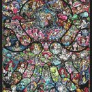 "disney counted Cross Stitch Pattern stained glass Pdf files - 24.29"" x 35.00"" - E1659"