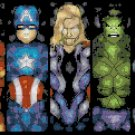 "Marvel superheroes stained glass - 13.79"" x 8.64"" - Cross Stitch Pattern Pdf E1670"