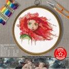 counted cross Stitch Pattern Watercolor merida brave 163x180 stitches E1904