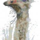 "watercolor ostrich Counted Cross Stitch pattern - 7.29"" x 15.07"" - E1739"