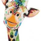 counted Cross Stitch Pattern Watercolor giraffe pdf chart 99x168 stitches E1885