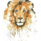 "watercolor lion Counted Cross Stitch pattern - 9.07"" x 12.36"" - E1502"