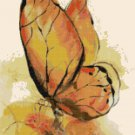 "watercolor butterfly Counted Cross Stitch pattern - 11.00"" x 14.43"" - E2193"