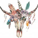 """watercolor boho Counted Cross Stitch pattern - 15.57"""" x 15.07"""" - E1747"""