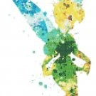 "watercolor tinkerbell Counted Cross Stitch pattern - 8.21"" x 15.43"" - E1846"