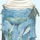 "watercolor jar Counted Cross Stitch pattern - 17.71"" x 26.64"" - E2231"