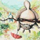"""watercolor Totoro Cross Stitch miyazaki pattern - 23.64"""" x 12.63"""" - E1940"""