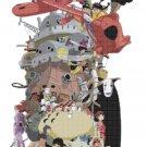 """watercolor Totoro Cross Stitch miyazaki pattern - 16.14"""" x 22.57"""" - E1766"""