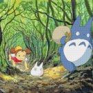 """Cross stitch pattern - Totoro my friend - Miyazaki 17.71""""X13.29"""" E1000"""
