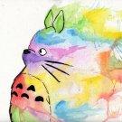 counted Cross Stitch Pattern totoro watercolor miyazaki 157 * 142 stitches E1894