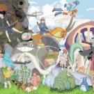 """Cross stitch pattern - ghibli all characters - Miyazaki 25.57""""X14.43"""" E951"""