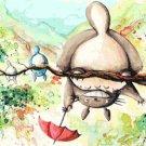 counted Cross Stitch Pattern totoro watercolor miyazaki 441 * 231 stitches E2307
