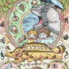 counted Cross Stitch Pattern totoro watercolor miyazaki 220 * 312stitches E1765
