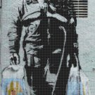 astronaut nasa  Banksy Counted Cross Stitch street art pattern 171 * 332 stitches E1792