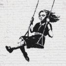 counted Cross stitch pattern bansky street art murales 206 * 213 stitches E1006