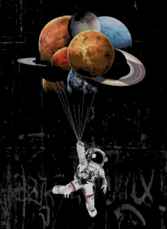 stars the limit Counted Cross Stitch Banksy P stitch street art pattern 248* 339 stitches E1930