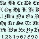Counted cross stitch pattern old gothic alphabet size 216 x 179 stitches E1242
