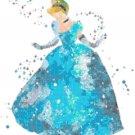 counted Cross stitch pattern watercolor princess cinderella 163x180 stitches E2323