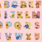 Counted cross stitch pattern alphabet winnie characters 376 * 274 stitches E545
