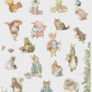 counted cross stitch pattern The world of B. potter 238*337 stitches E1020
