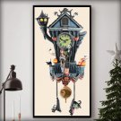 counted counted cross Stitch Pattern nightmare before christmas 194x386 stitches cuckoo clock E2154