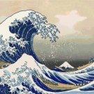 Counted Cross Stitch Kanagawa Hokusai great wave 386 x 266 stitches E1109