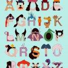 Counted cross stitch pattern alphabet villain characters 240*326 stitches E1190
