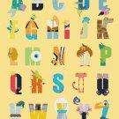 Counted cross stitch pattern alphabet villain characters 329*408 stitches E1220
