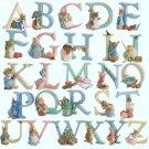 counted cross stitch pattern Alphabet farm 329 x 319 stitches E933