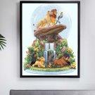 counted cross stitch pattern lion king glitter globe 216x285 stitches E2179