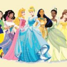 counted Cross stitch pattern princesses with Anna Elsa 465*170 stitches E009